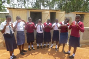 The Water Project: Lwakhupa Mixed Secondary School -  Finished Latrines