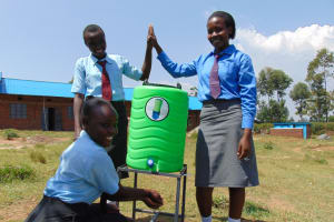 The Water Project: Chebunaywa Secondary School -  Handwashing Station