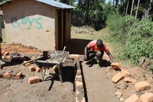 The Water Project: Koitabut Primary School -  Latrine Construction