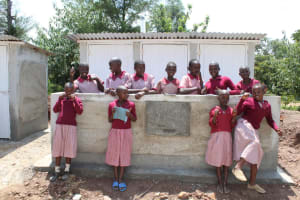 The Water Project: Ivumbu Primary School -  Finished Latrines