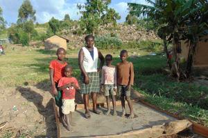 The Water Project: Imbinga Community, Arunga Spring -  Sanitation Platform