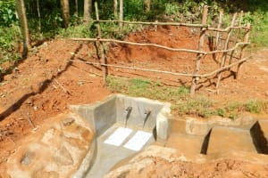 The Water Project: Mukhunya Community, Mwore Spring -  Finished Spring Protection