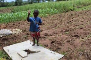 The Water Project: Kambiri Community, Sachita Spring -  Sanitation Platform