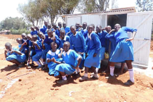 The Water Project: Sango Primary School -  Finished Latrines