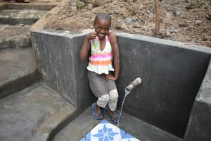The Water Project: Emukoyani Community, Ombalasi Spring -  Flowing Water