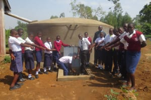 The Water Project: Lwakhupa Mixed Secondary School -  Water Flowing