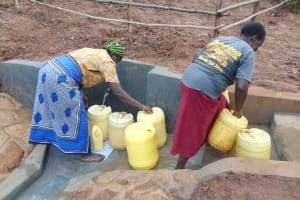 The Water Project: Ibinzo Community, Lucia Spring -  Water Flowing