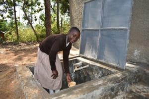 The Water Project: Ichinga Muslim Primary School -  Water Flowing