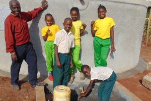 The Water Project: Green Mount Primary School -  Water Flowing
