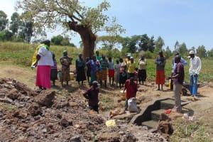 The Water Project: Sambuli Community, Nechesa Spring -  Spring Care Training