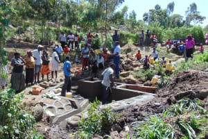The Water Project: Imbinga Community, Arunga Spring -  Training On Spring Care