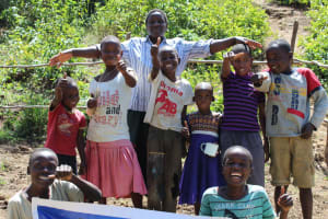 The Water Project: Mukoko Community, Mshimuli Spring -  Happy To Have Flowing Water