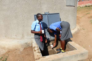 The Water Project: Koitabut Secondary School -  Flowing Water