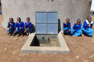 The Water Project: Lwakhupa Primary School -  Water Flowing