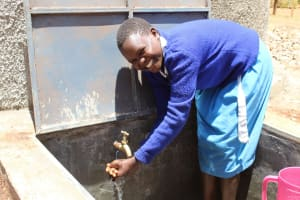 The Water Project: Sango Primary School -  Flowing Water