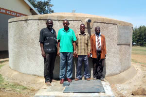 The Water Project:  School Staff At The Finished Tank