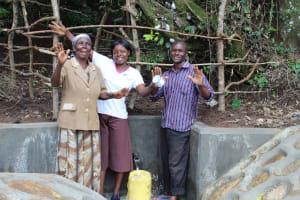 The Water Project: Kambiri Community, Sachita Spring -  Flowing Water