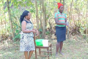 The Water Project: Ibinzo Community, Lucia Spring -  Handwashing Training
