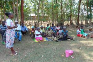 The Water Project: Sambuli Community, Nechesa Spring -  Dental Hygiene Training
