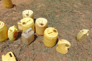 The Water Project: Lwanga Itulubini Primary School -  Water Containers