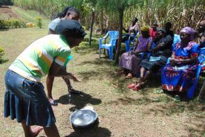 The Water Project: Kambiri Community, Sachita Spring -  Handwashing Training
