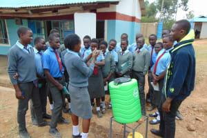 The Water Project: Chebunaywa Secondary School -  Handwashing Training