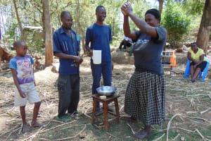The Water Project: Imbinga Community, Arunga Spring -  Handwashing Training