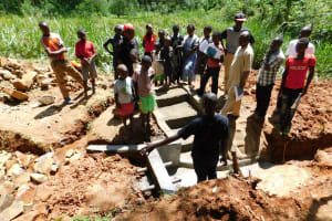 The Water Project: Mukhunya Community, Mwore Spring -  Spring Care Training