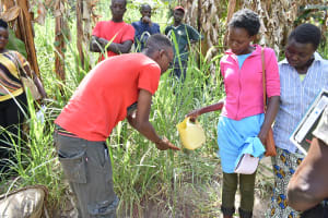 The Water Project: Emukoyani Community, Ombalasi Spring -  Handwashing Training