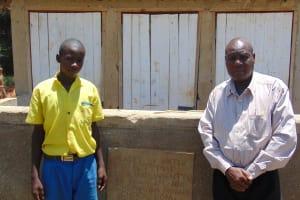 The Water Project: Chebunaywa Primary School -  Clinton Kibisu And Mr John Mundehe