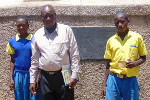 The Water Project: Chebunaywa Primary School -  Marion Cheagat Mr John Mundehe And Clinton Kibisu