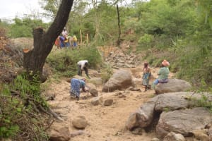 The Water Project: Mbau Community B -  Clearing Land For Dam