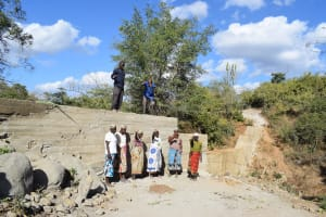 The Water Project: Mbau Community B -  Completed Sand Dam