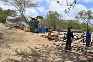 The Water Project: Mbau Community B -  Construction Site
