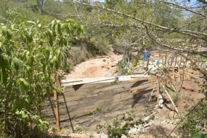The Water Project: Mbau Community B -  Dam Wall