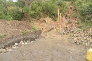 The Water Project: Mbau Community B -  Dam Wing Scaffolding