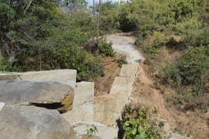 The Water Project: Mbau Community B -  New Dam