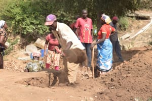 The Water Project: Ndithi Community -  Digging At Dam Site