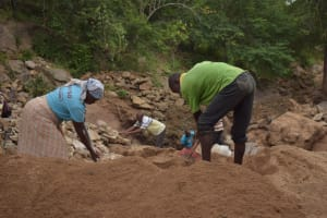 The Water Project: Ndithi Community -  Shg Members Digging