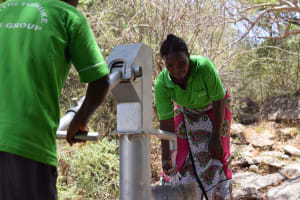 The Water Project: Ndithi Community A -  Water From The Well