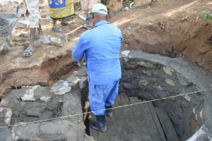 The Water Project: Ndithi Community A -  Well Cement Work