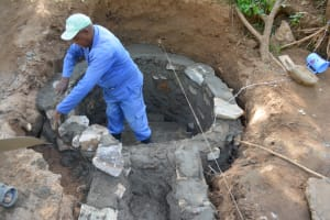 The Water Project: Ndithi Community A -  Well Construction