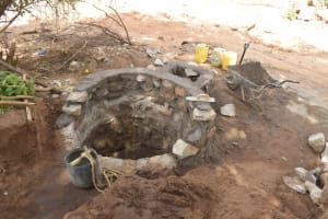 The Water Project: Ndithi Community A -  Well Progress