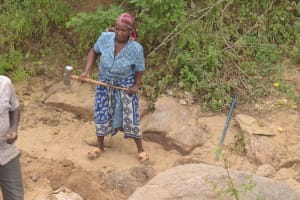 The Water Project: Mbau Community C -  Construction