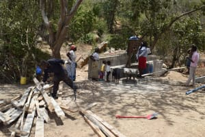 The Water Project: Mbau Community C -  Working On The Well