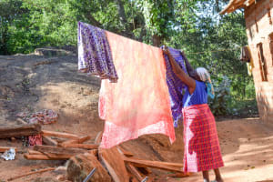 The Water Project: Kasekini Community A -  Hanging Clothes On The Line