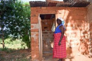 The Water Project: Kasekini Community A -  Latrine