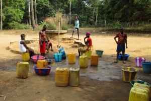 The Water Project: Kamayea, Susu Community & Church -  Fetching Water