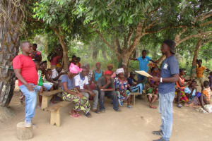 The Water Project: Kamayea, Susu Community & Church -  Staff Meet With Community Members