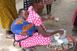 The Water Project: Kamayea, Susu Community & Church -  Woman Selling Food